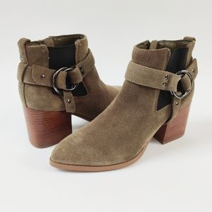 NEW Marc Fisher View Suede Harness Bootie Boot 8.5